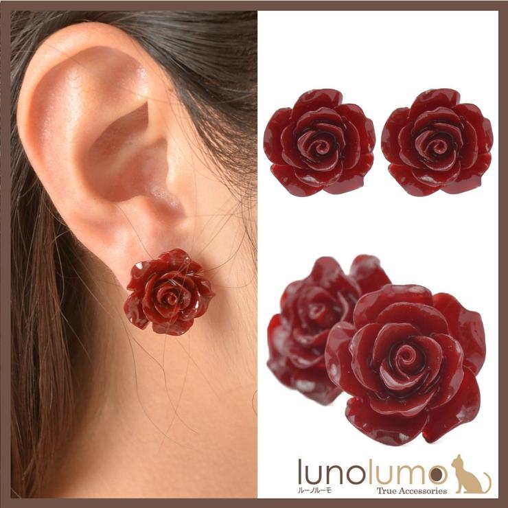 ピアス レディース 薔薇 | lunolumo | 詳細画像1
