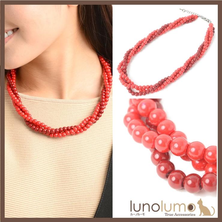 ネックレス レディース 赤 | lunolumo | 詳細画像1
