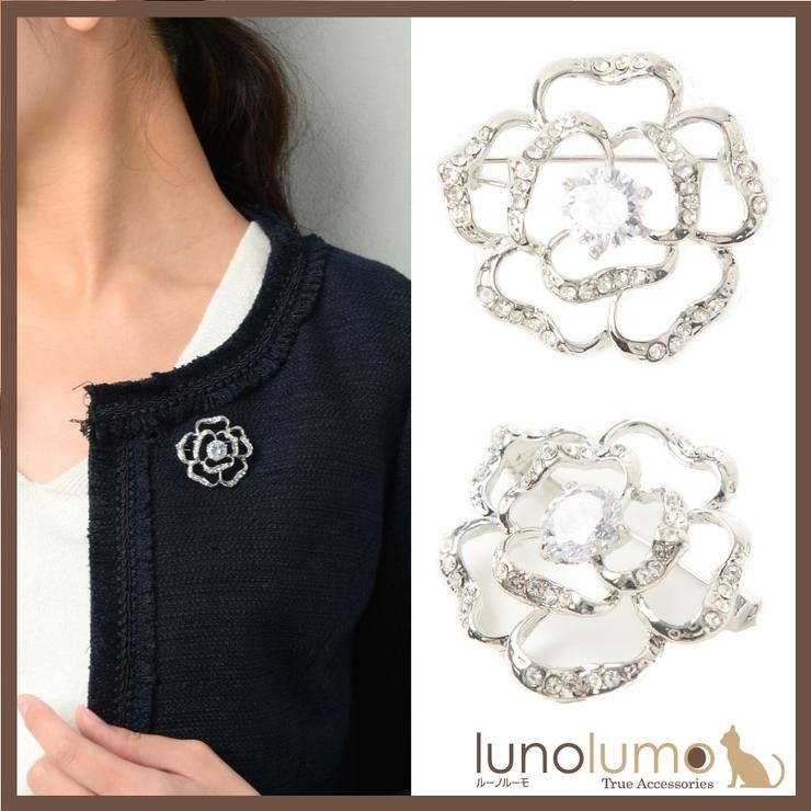 キュービックジルコニア ブローチ 薔薇 | lunolumo | 詳細画像1