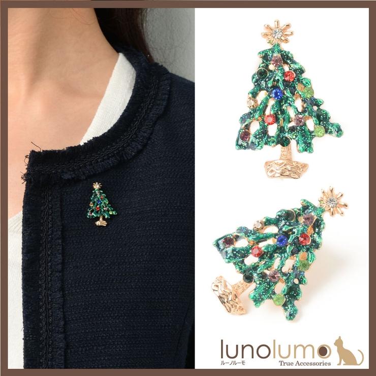 クリスマス ピンブローチ ラペルピン   lunolumo   詳細画像1