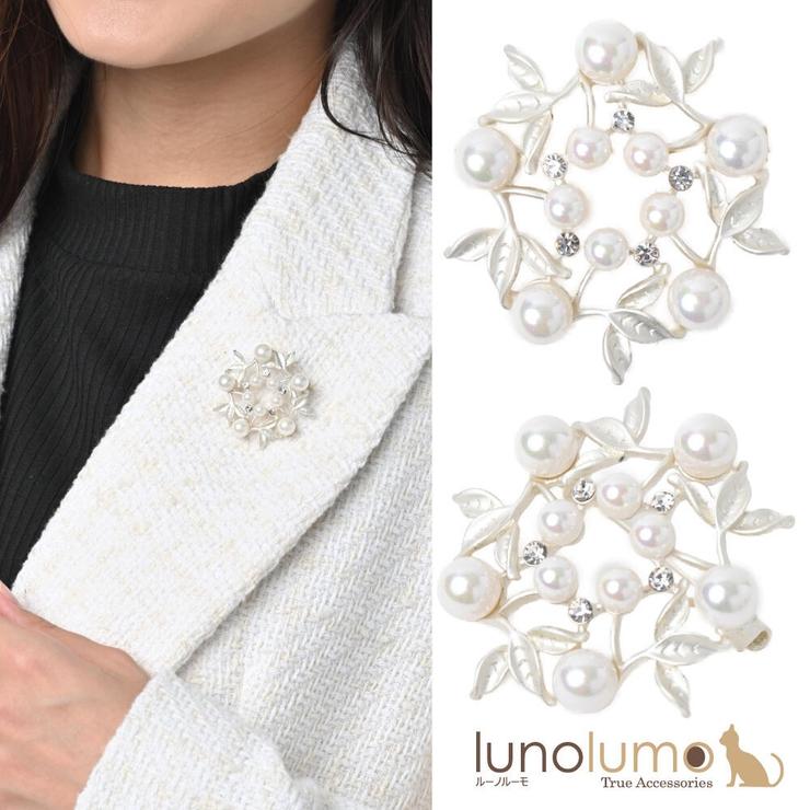 ブローチ パール メタル | lunolumo | 詳細画像1