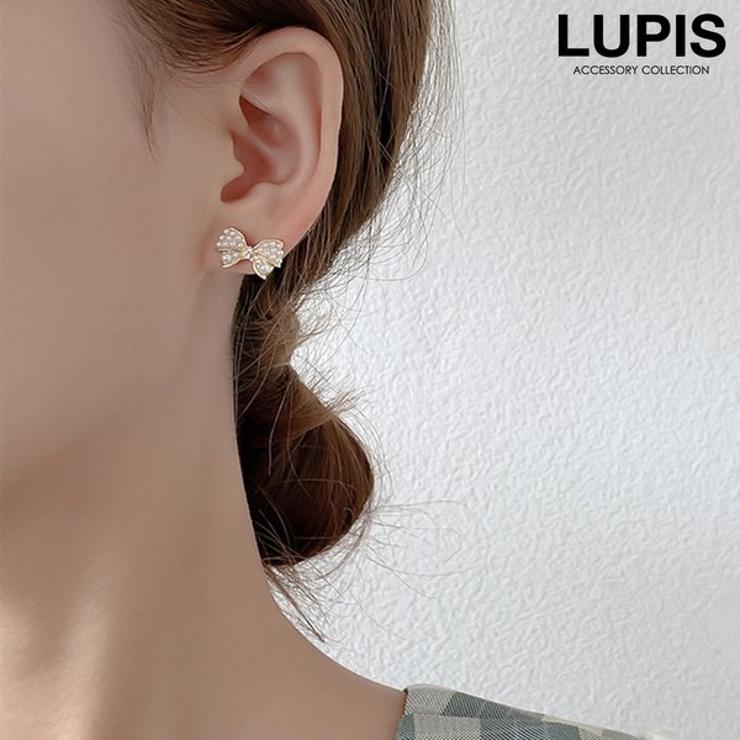 パヴェパールリボンピアス | LUPIS | 詳細画像1