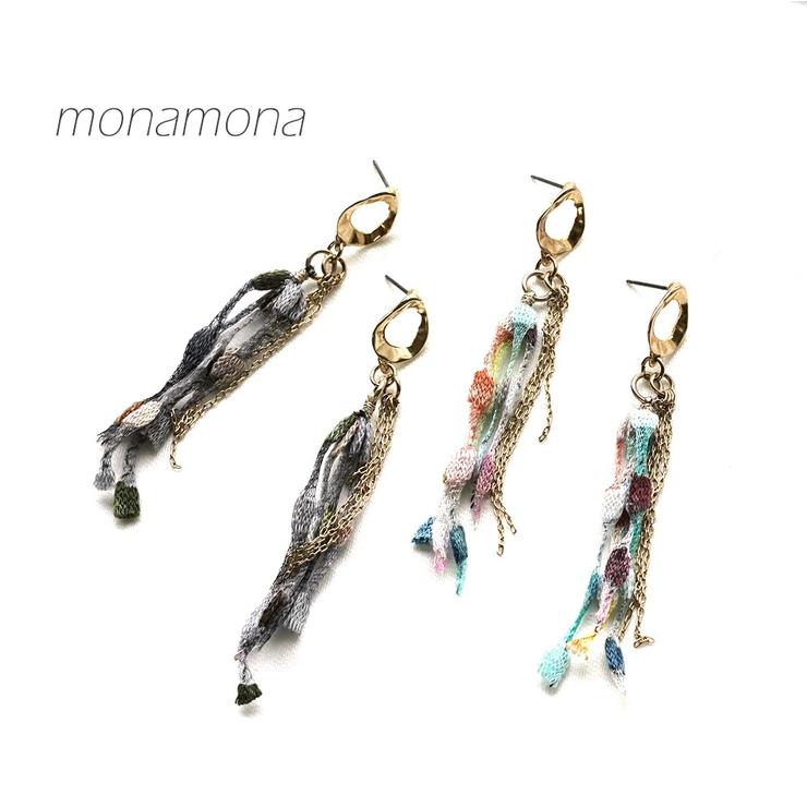 マルチ糸さがりピアス   monamona   詳細画像1