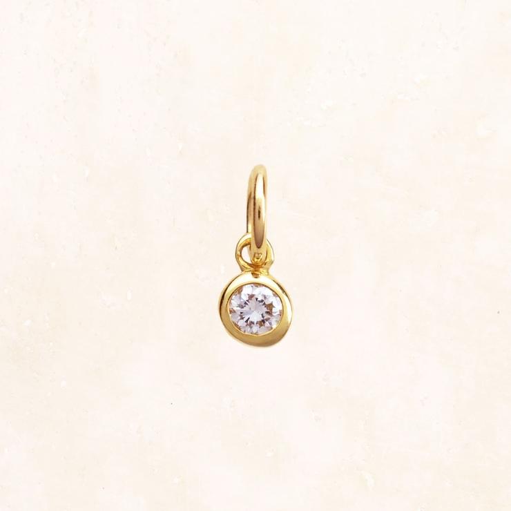 K18 YG 一粒ダイヤモンドチャーム(2.5mm) | NATURALI JEWELRY | 詳細画像1
