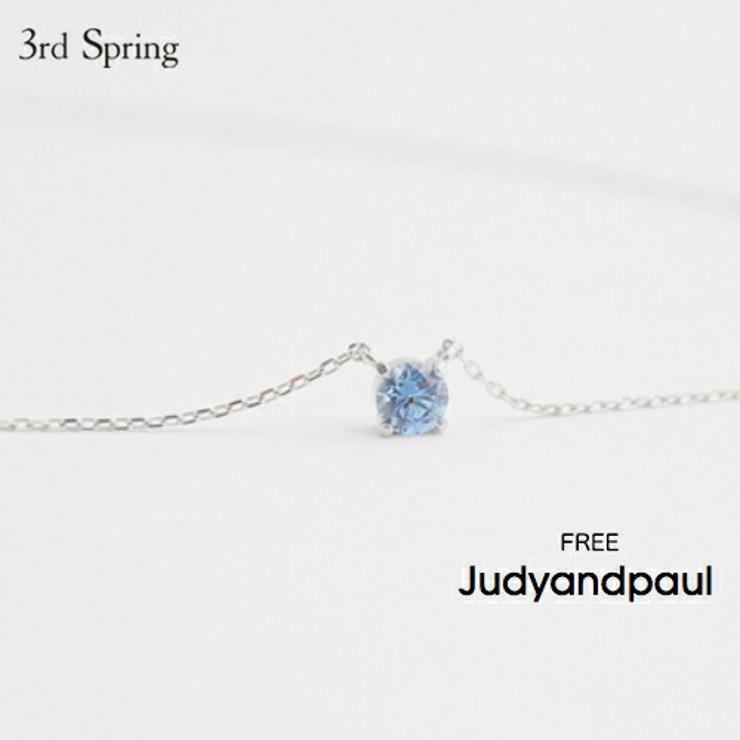 JUDYANDPAUL(ジュディアンドポール)ダイヤモンドカットクリスタルネックレス   詳細画像