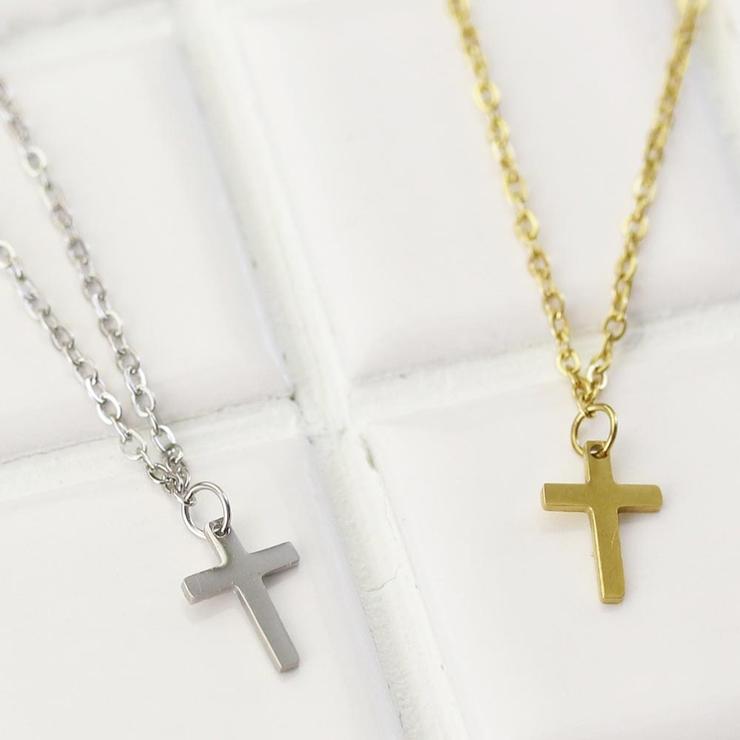 ネックレスクロス十字架ステンレスプチネックレス | 詳細画像