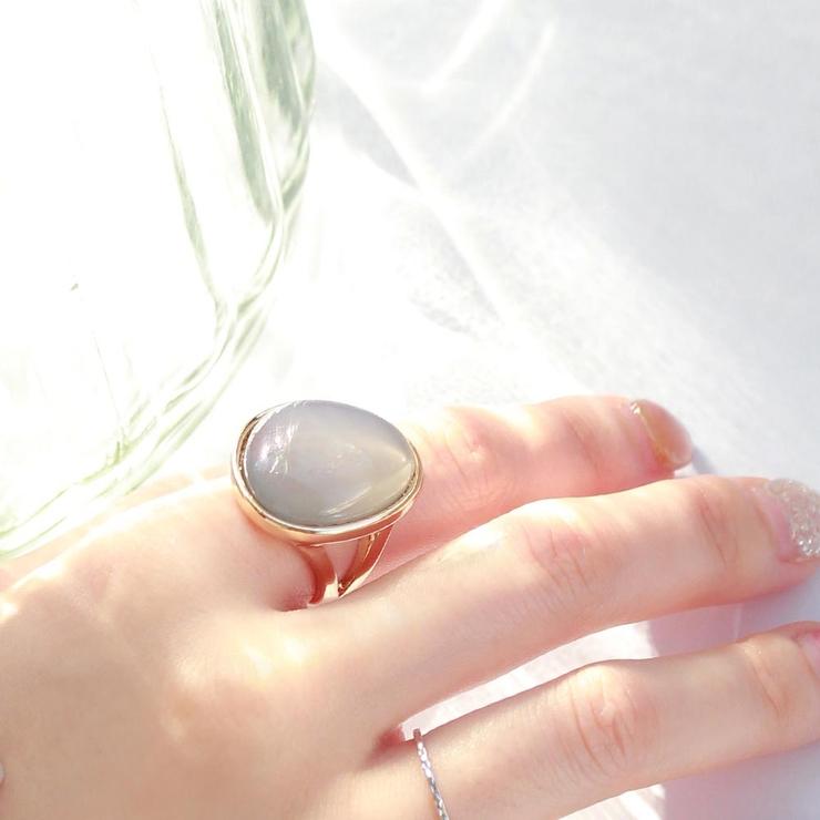 リングニッケルフリージェムカラーラウンドメタル13号指輪 | 詳細画像