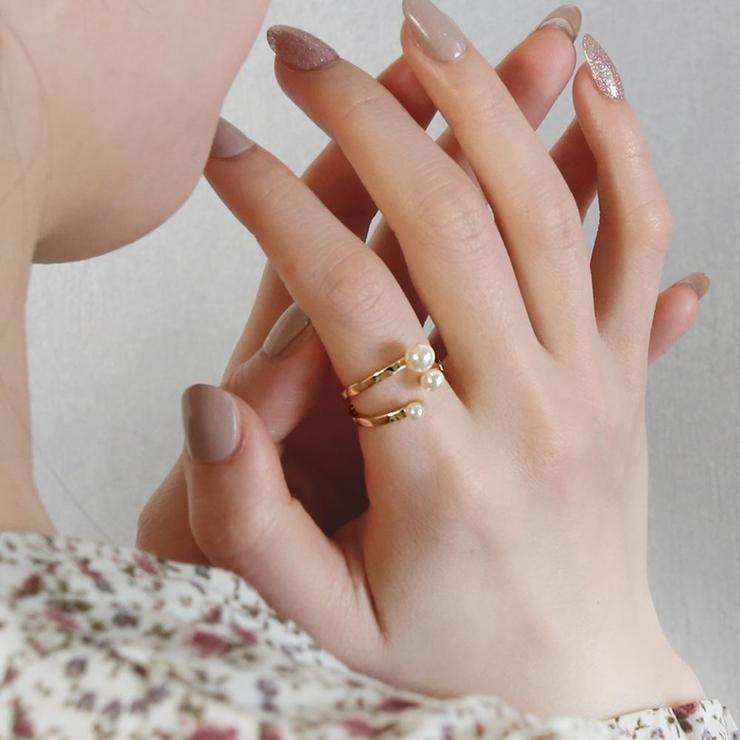 リングニッケルフリースリーパールメタルフリーサイズ指輪 | 詳細画像