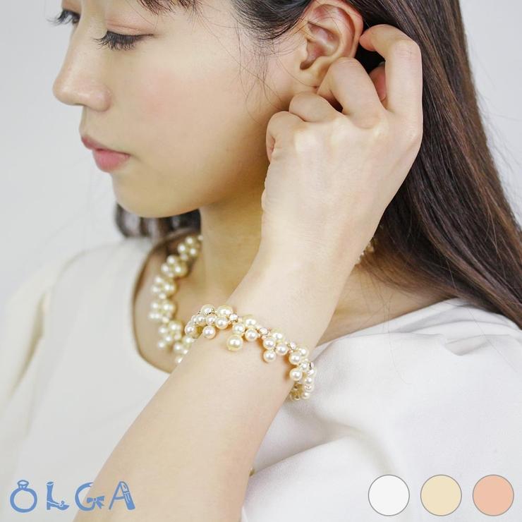 ブレスレット パール カットガラス | osewaya | 詳細画像1