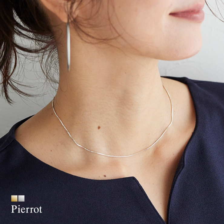 silver925ボックスチェーンネックレス ネックレス silver925 | pierrot | 詳細画像1