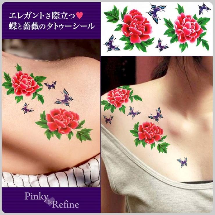 タトゥーシール 華 薔薇 | Pinky&Refine | 詳細画像1
