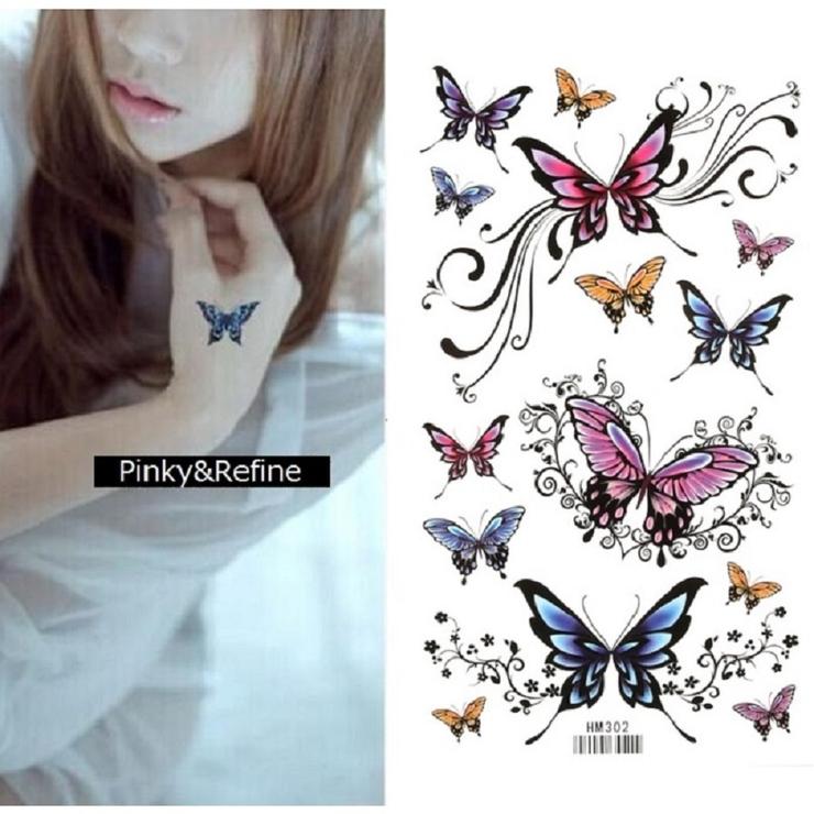 タトゥーシール 蝶 バタフライ | Pinky&Refine | 詳細画像1