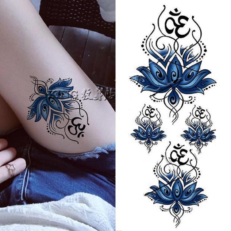 カッコいい 青い蓮の花 セクシー   Pinky&Refine   詳細画像1