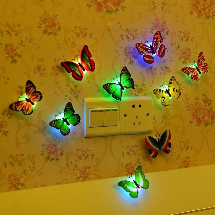 蝶型ライト 蝶型ランプ 2個セット   PlusNao   詳細画像1