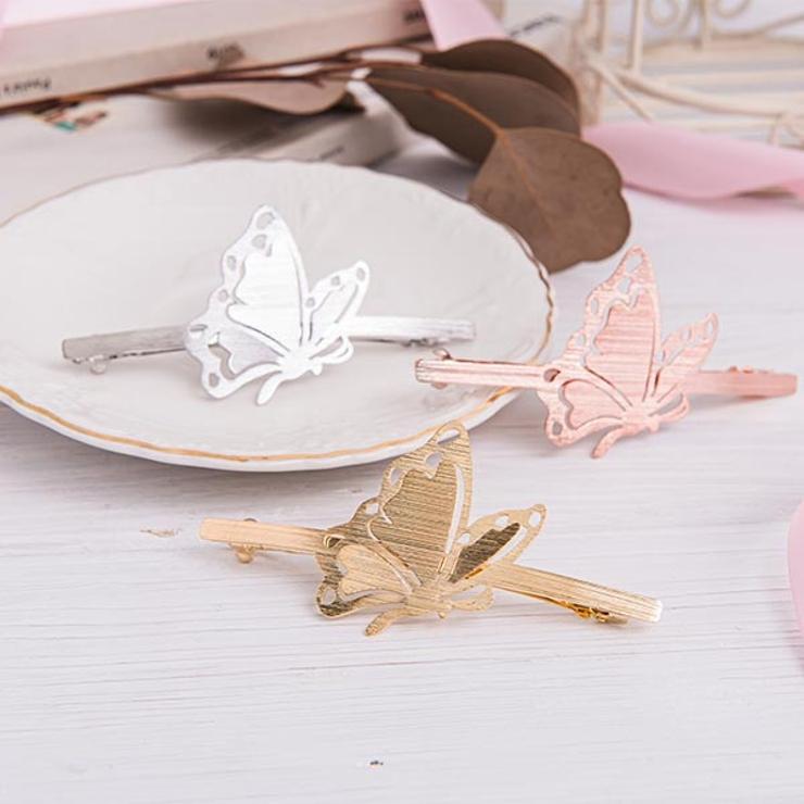 蝶々デザインスリムピン ヘアアクセ ヘアアクセサリー   Ruby's Collection    詳細画像1
