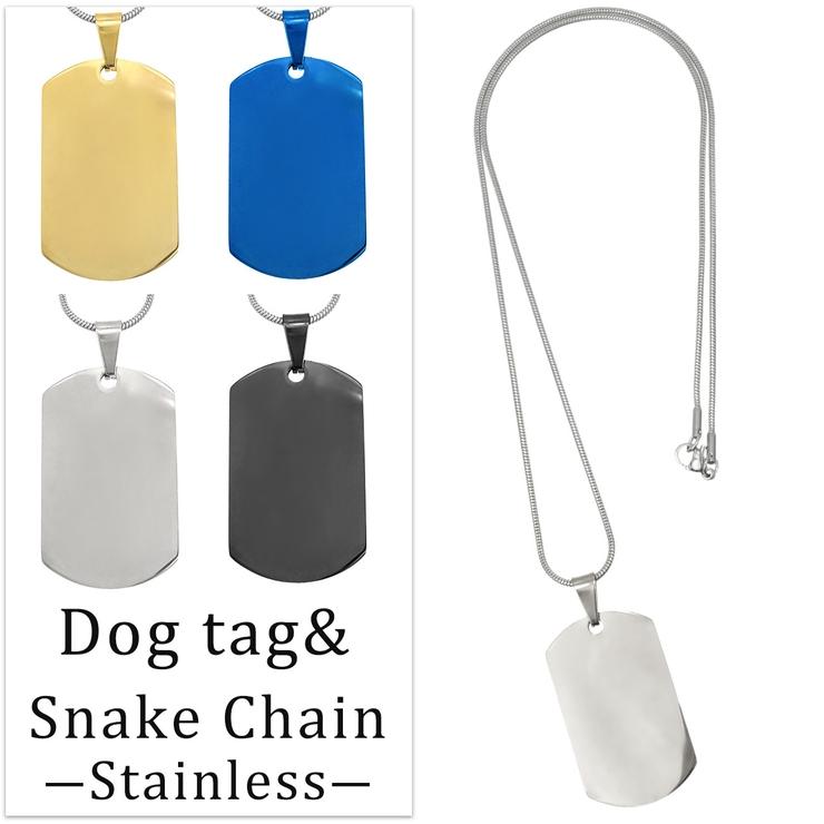 シンプル ドッグタグ ネックレス SBG | SBG | 詳細画像1