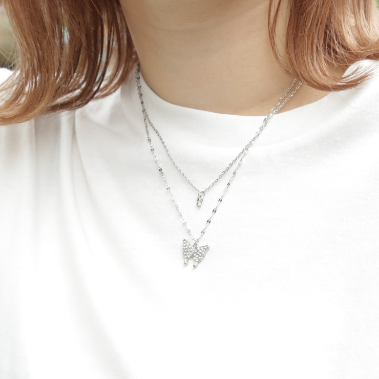 華奢蝶ネックレス レディースファッション ネックレス   sevens   詳細画像1