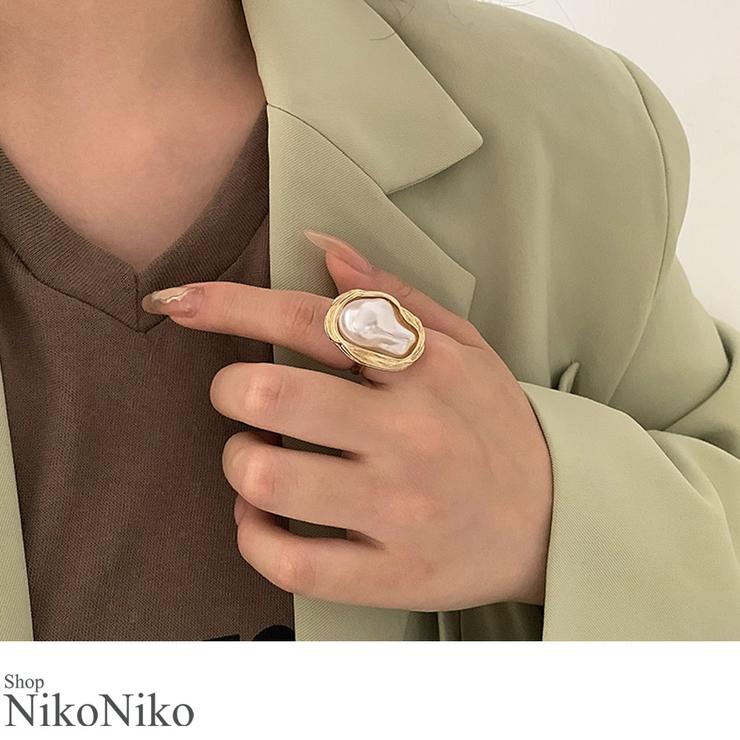秋新作 バロックパール リング   ShopNikoNiko   詳細画像1