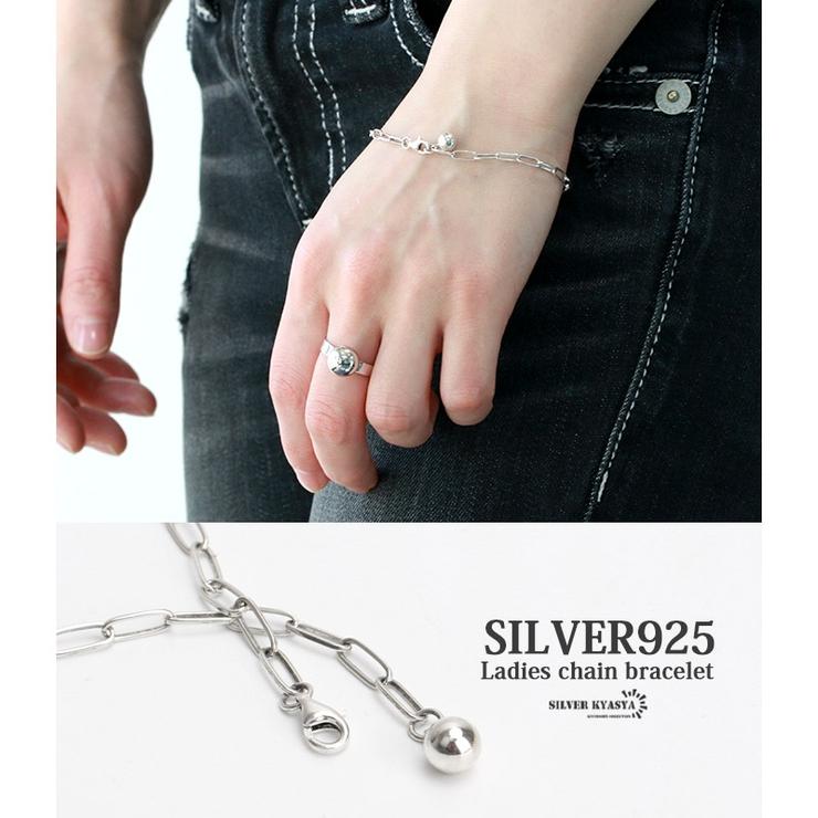 チェーンブレスレット シルバー925 silver925   SILVERKYASYA【women】   詳細画像1