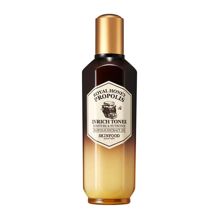 スキンフードロイヤルハニープロポリスエンリッチトナー|成熟プロポリス蜂蜜はちみつ潤いしっとりなめらか|SKINFOOD3000円以上 | 詳細画像