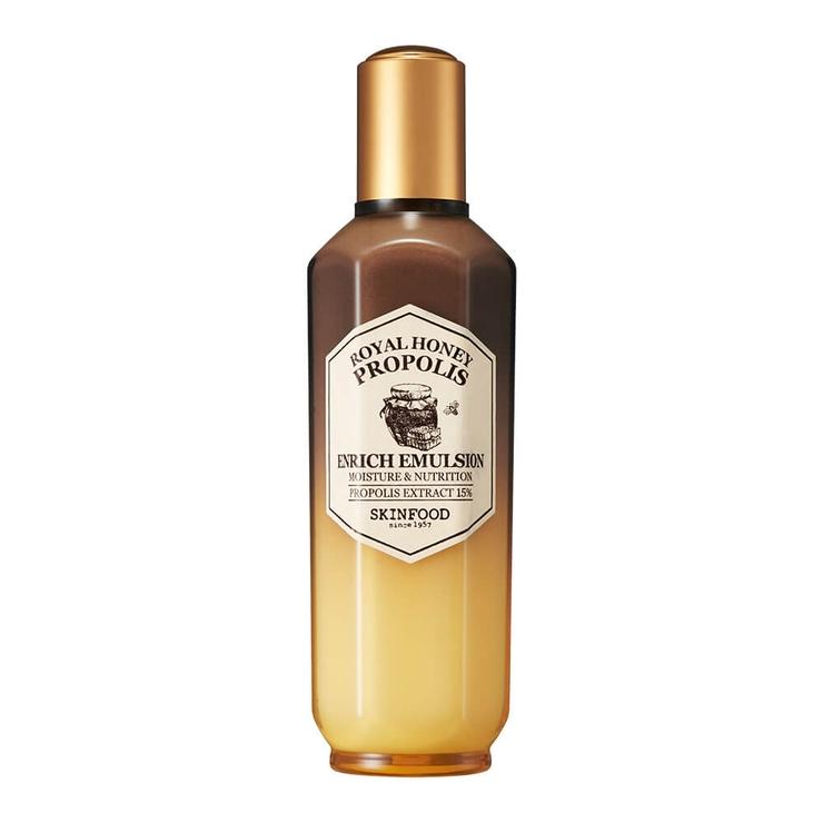 スキンフードロイヤルハニープロポリスエンリッチエマルジョン|成熟プロポリス蜂蜜はちみつ潤いしっとりなめらか|SKINFOOD3000円以上 | 詳細画像