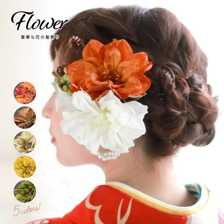 成人式や卒業式、結婚式にピッタリな花の髪飾り | 詳細画像