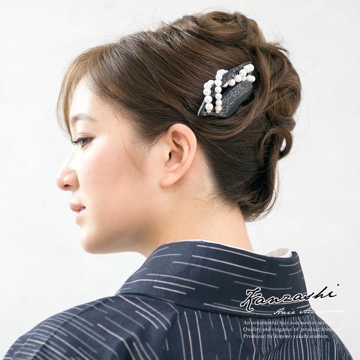 着物スタイルに,バチ型簪(かんざし) | 詳細画像
