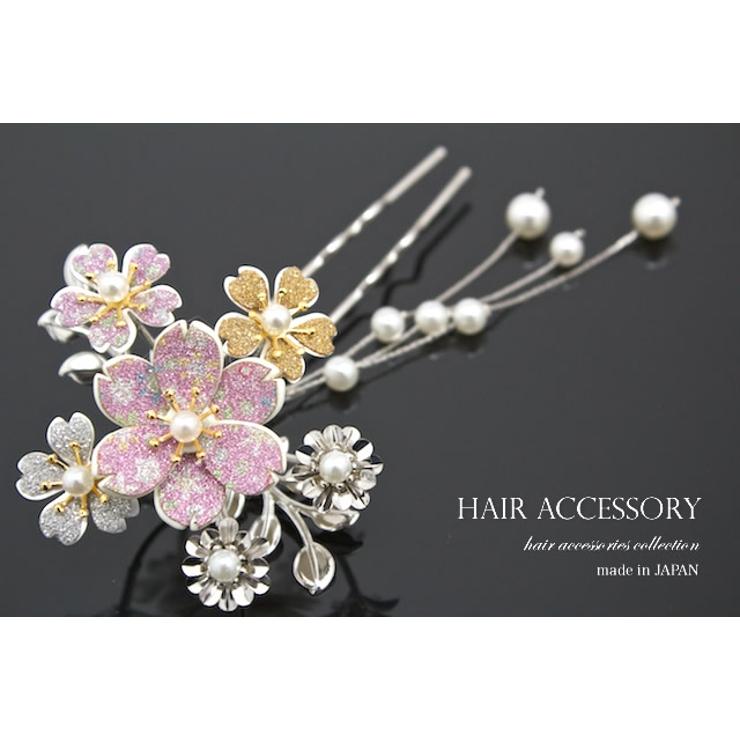訪問着やフォーマルな着物に☆日本製のバチ型簪(かんざし)   詳細画像