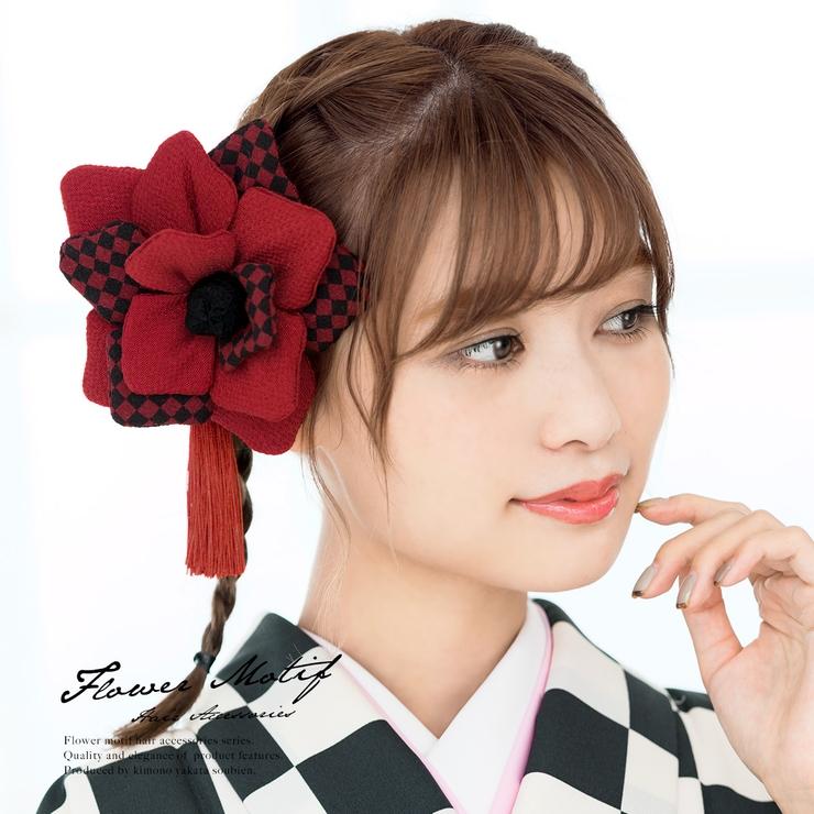 成人式や卒業式に!花の髪飾り   詳細画像