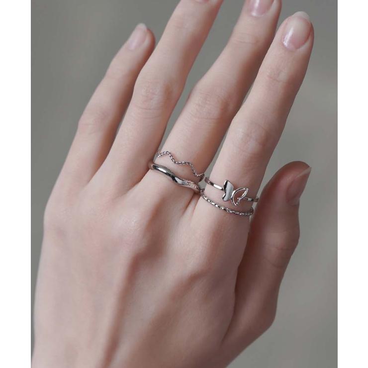 メタル細リング/4個セット/指輪 | SPINNS | 詳細画像1